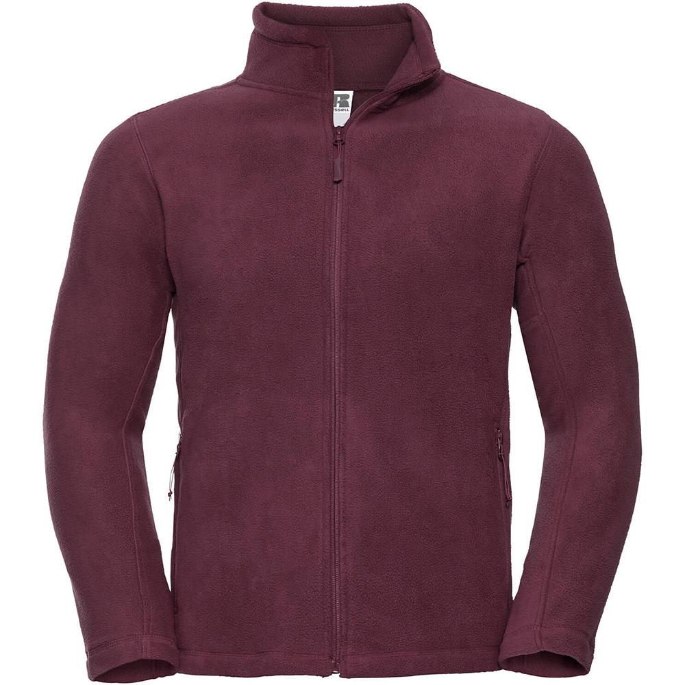 Russell Mens Full Zip Outdoor Fleece Jacket (XS) (Burgundy)