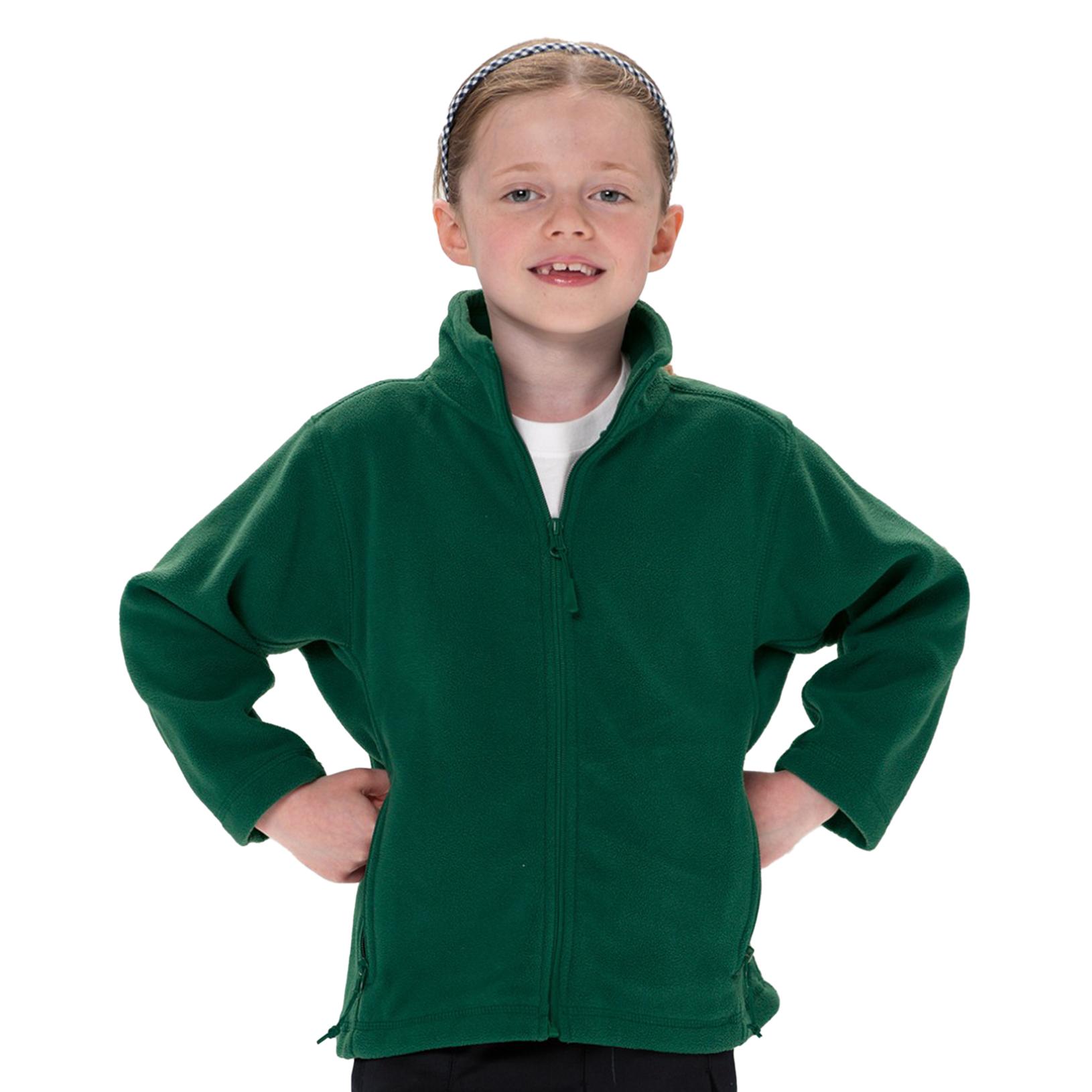 Jerzees Schoolgear Childrens Full Zip Outdoor Fleece Jacket (9-10) (Burgundy)