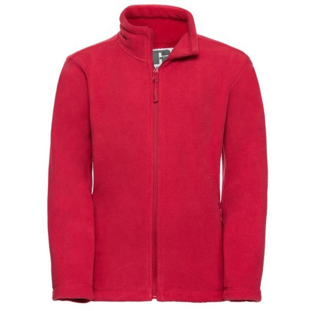 Jerzees Schoolgear Childrens Full Zip Outdoor Fleece Jacket (5-6) (Classic Red)