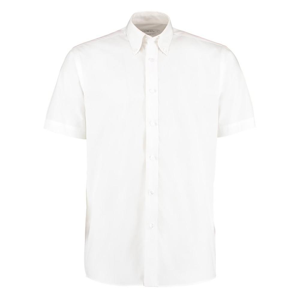 Kustom Kit Mens Workforce Short Sleeve Shirt / Mens Workwear Shirt (2XL) (White)