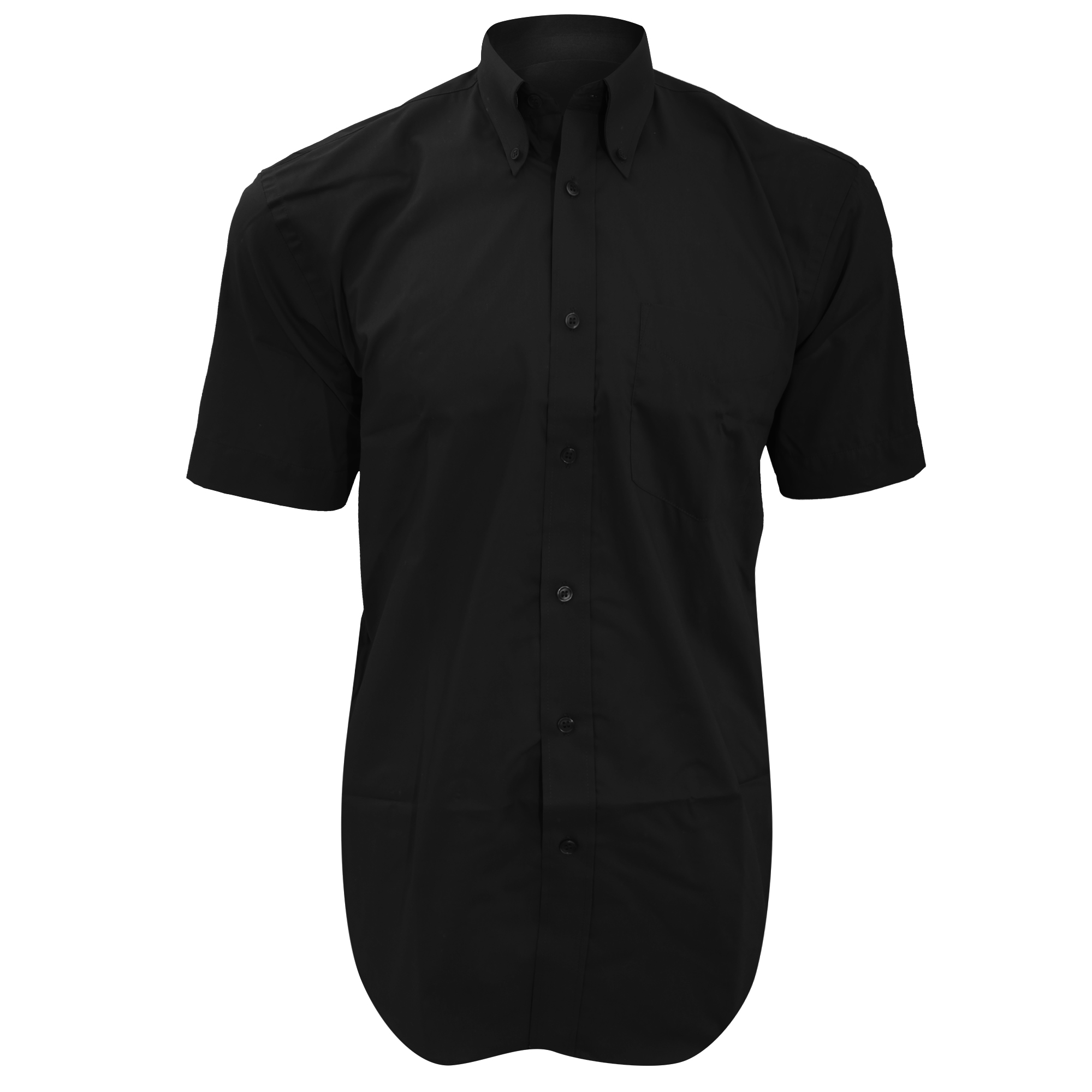 Kustom Kit Mens Short Sleeve Corporate Oxford Shirt (20inch) (Black)