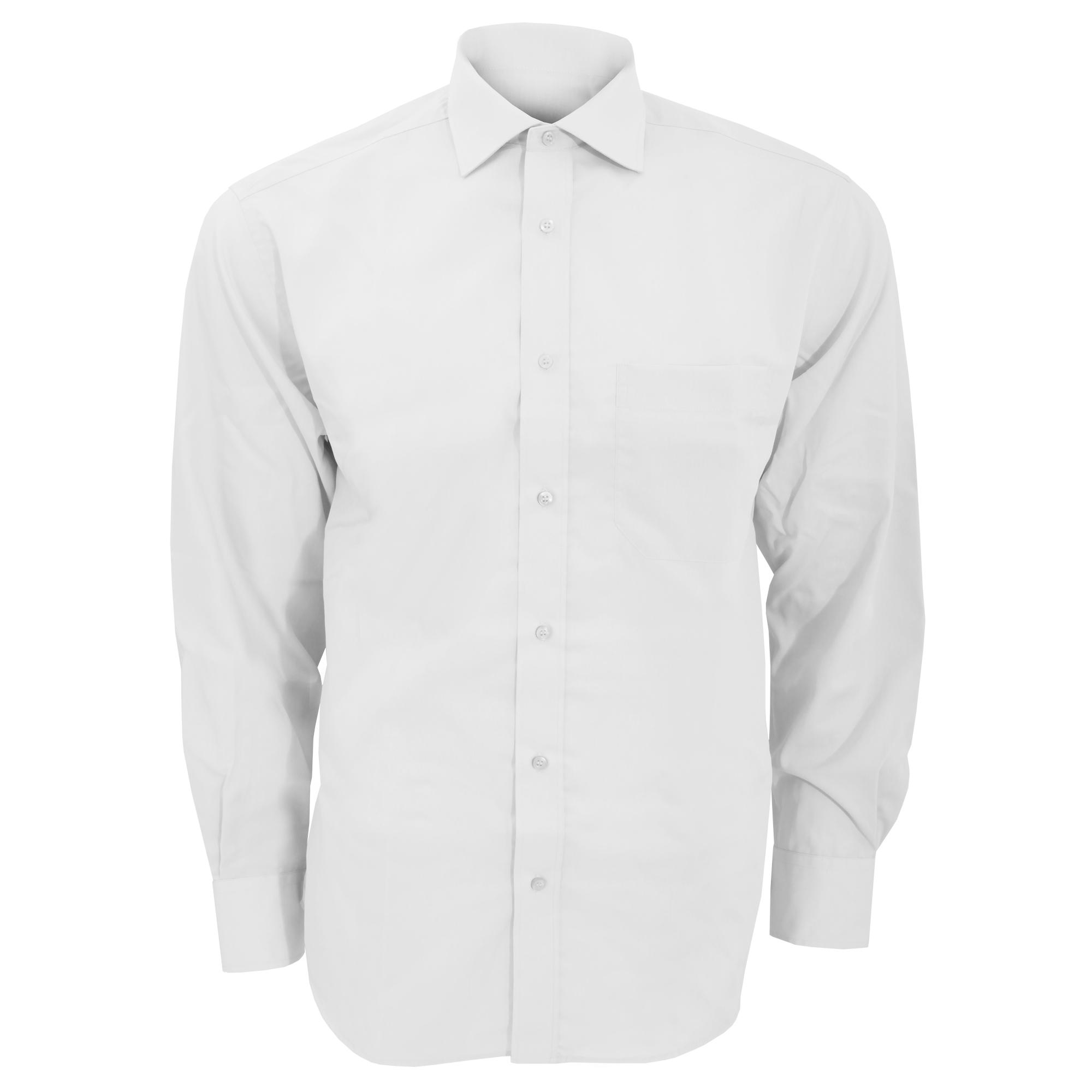 Kustom Kit Mens Premium Non Iron Long Sleeve Shirt (18.5inch) (White)