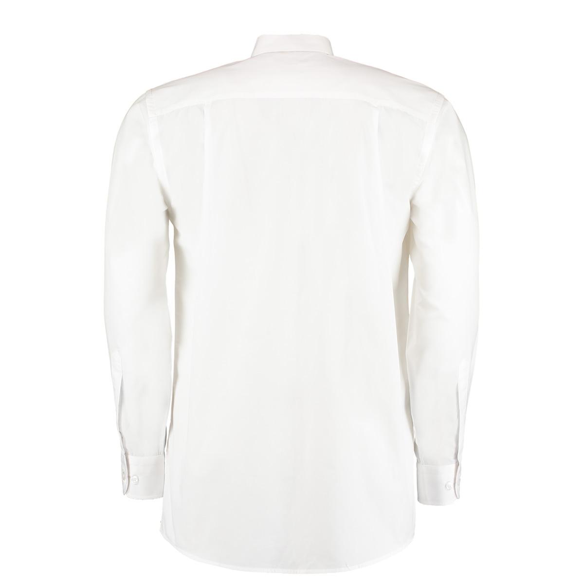 Kustom Kit Mens Workforce Long Sleeve Shirt (XL) (White)