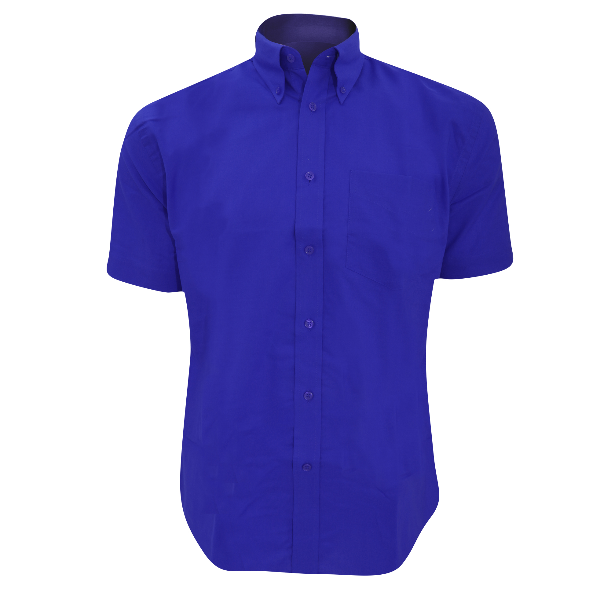 Kustom Kit Mens Workwear Oxford Short Sleeve Shirt (21inch) (Italian Blue)