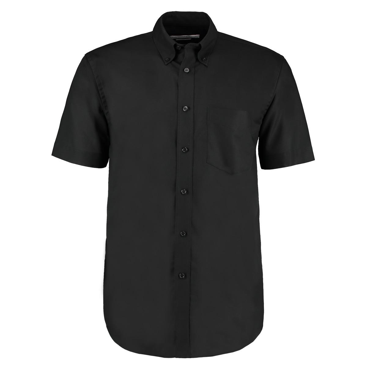 Kustom Kit Mens Workwear Oxford Short Sleeve Shirt (19.5inch) (Light Blue)