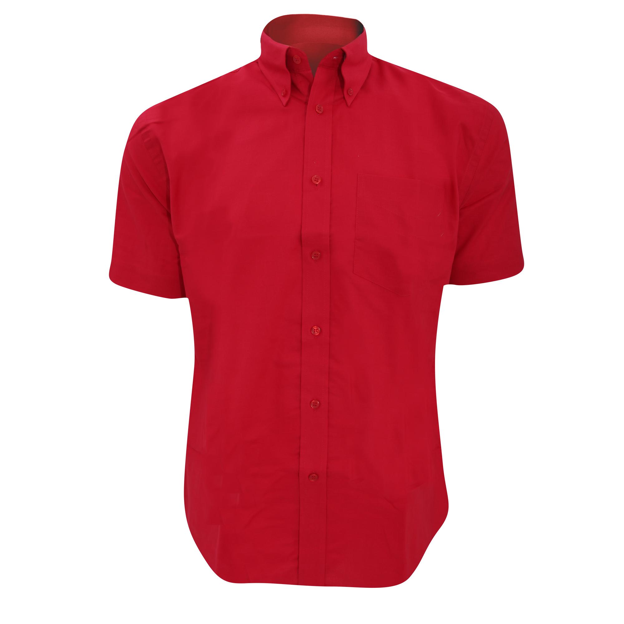 Kustom Kit Mens Workwear Oxford Short Sleeve Shirt (20inch) (Black)