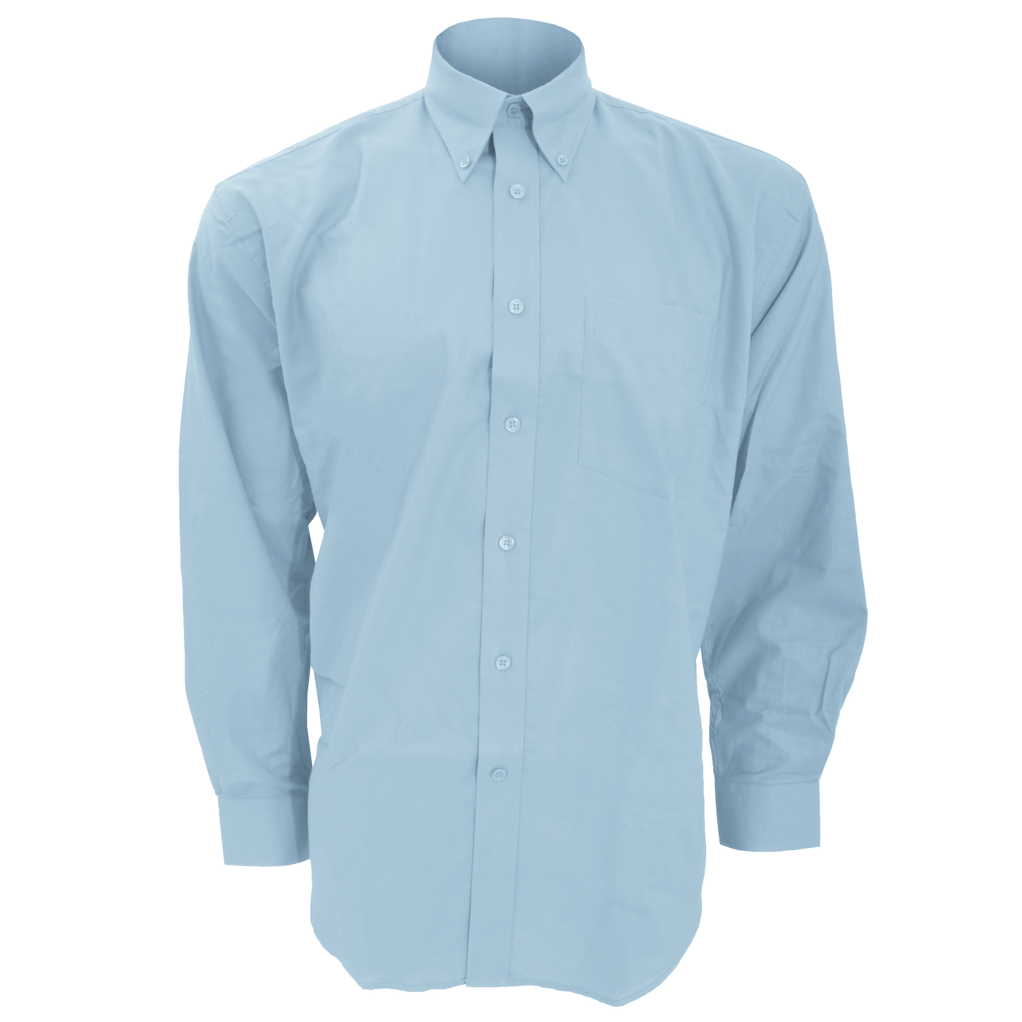 Kustom Kit Mens Workwear Oxford Long Sleeve Shirt (23inch) (Light Blue)