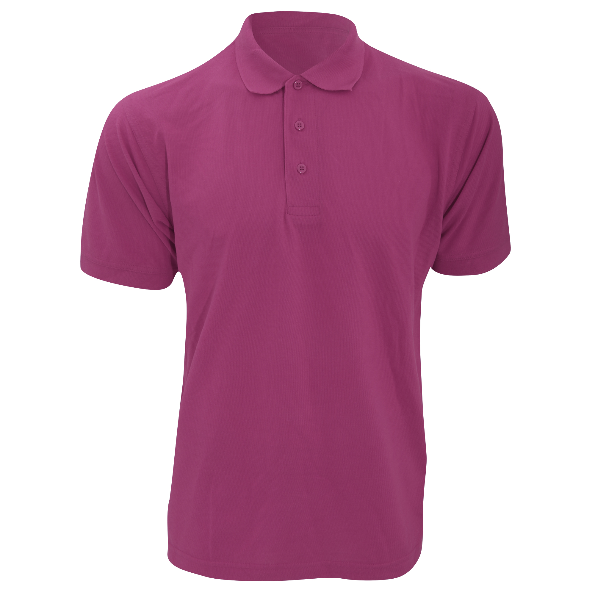 Kustom Kit Mens Klassic Superwash Short Sleeve Polo Shirt (L) (Magenta)