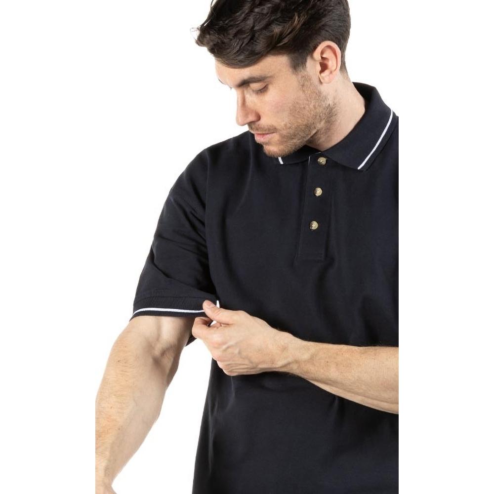 Kustom Kit Mens St. Mellion Mens Short Sleeve Polo Shirt (L) (Navy/White)