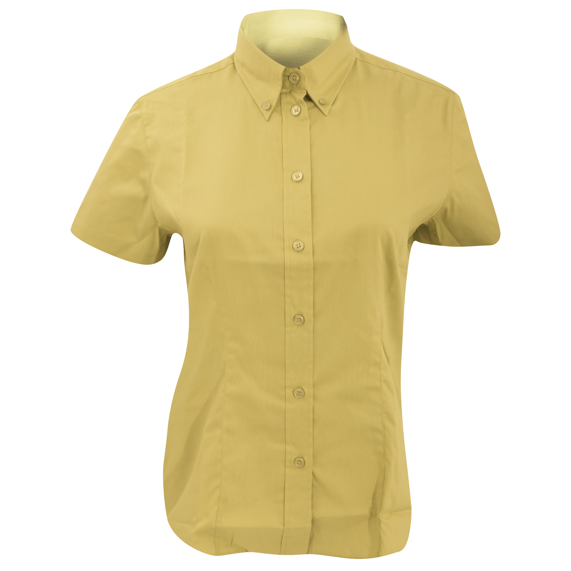 Kustom Kit Ladies Corporate Oxford Short Sleeve Shirt (24) (Charcoal)