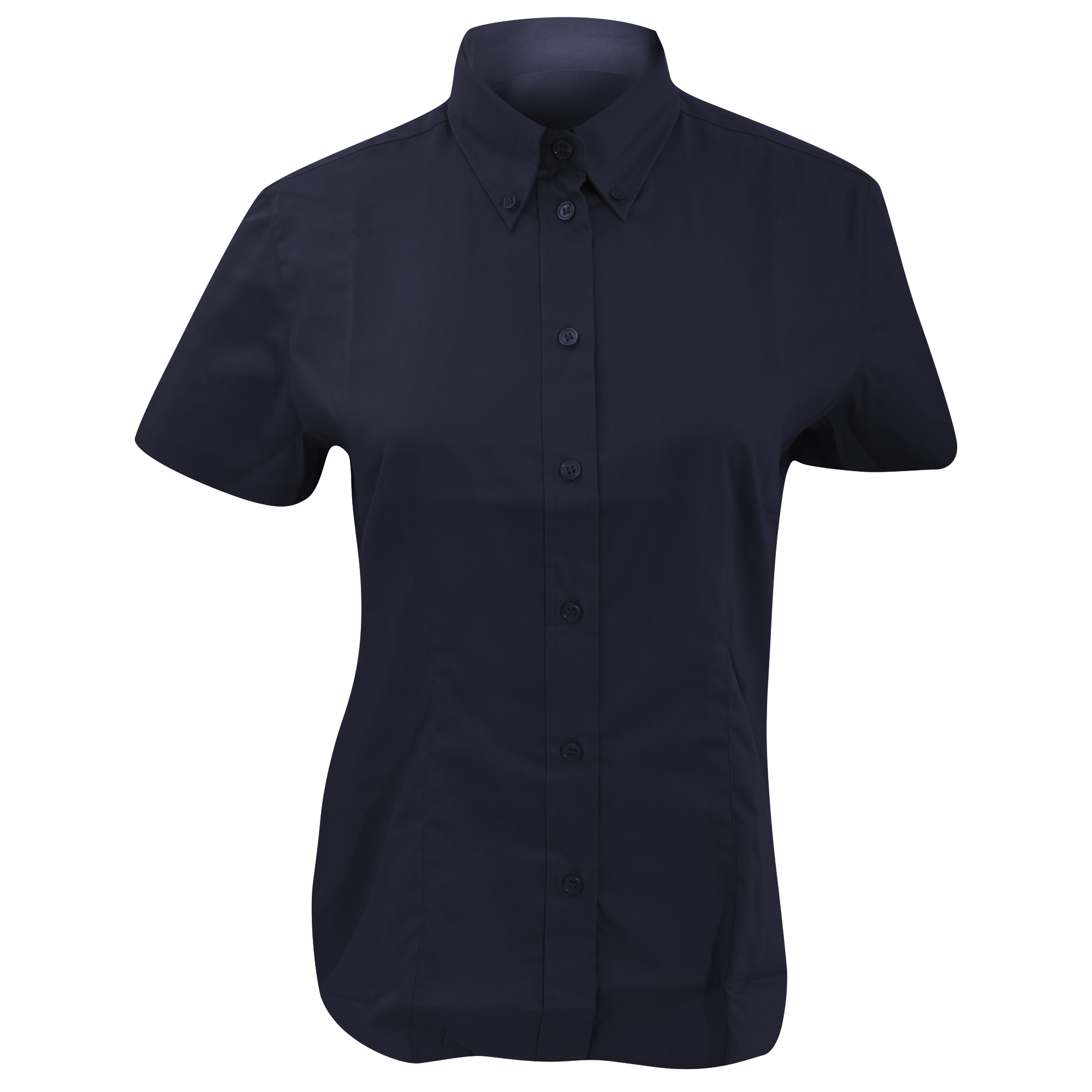 Kustom Kit Ladies Corporate Oxford Short Sleeve Shirt (24) (Light Blue)
