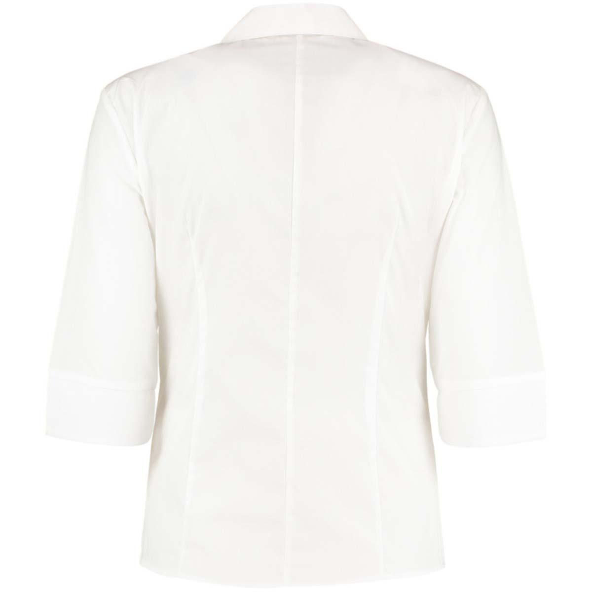 Kustom Kit Ladies Continental 3/4 Length Sleeve Blouse (14 UK) (White)