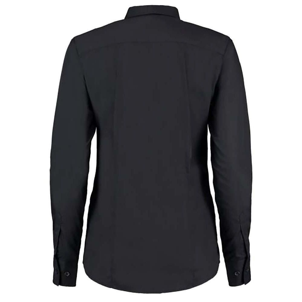 Kustom Kit Ladies Long Sleeve Workforce Shirt (18) (White)