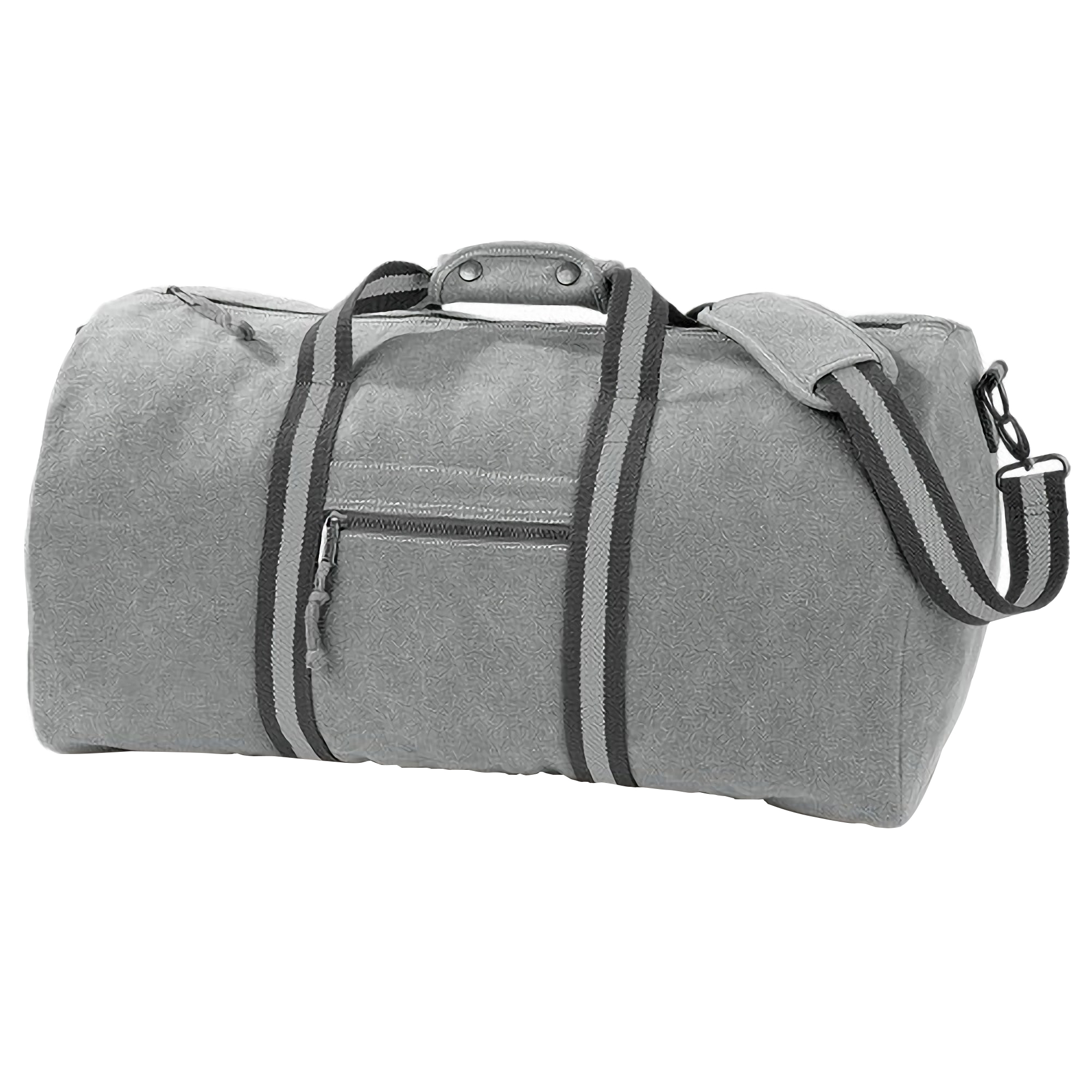 Quadra Vintage Canvas Holdall Duffle Bag - 45 Litres (One Size) (Vintage Light Grey)