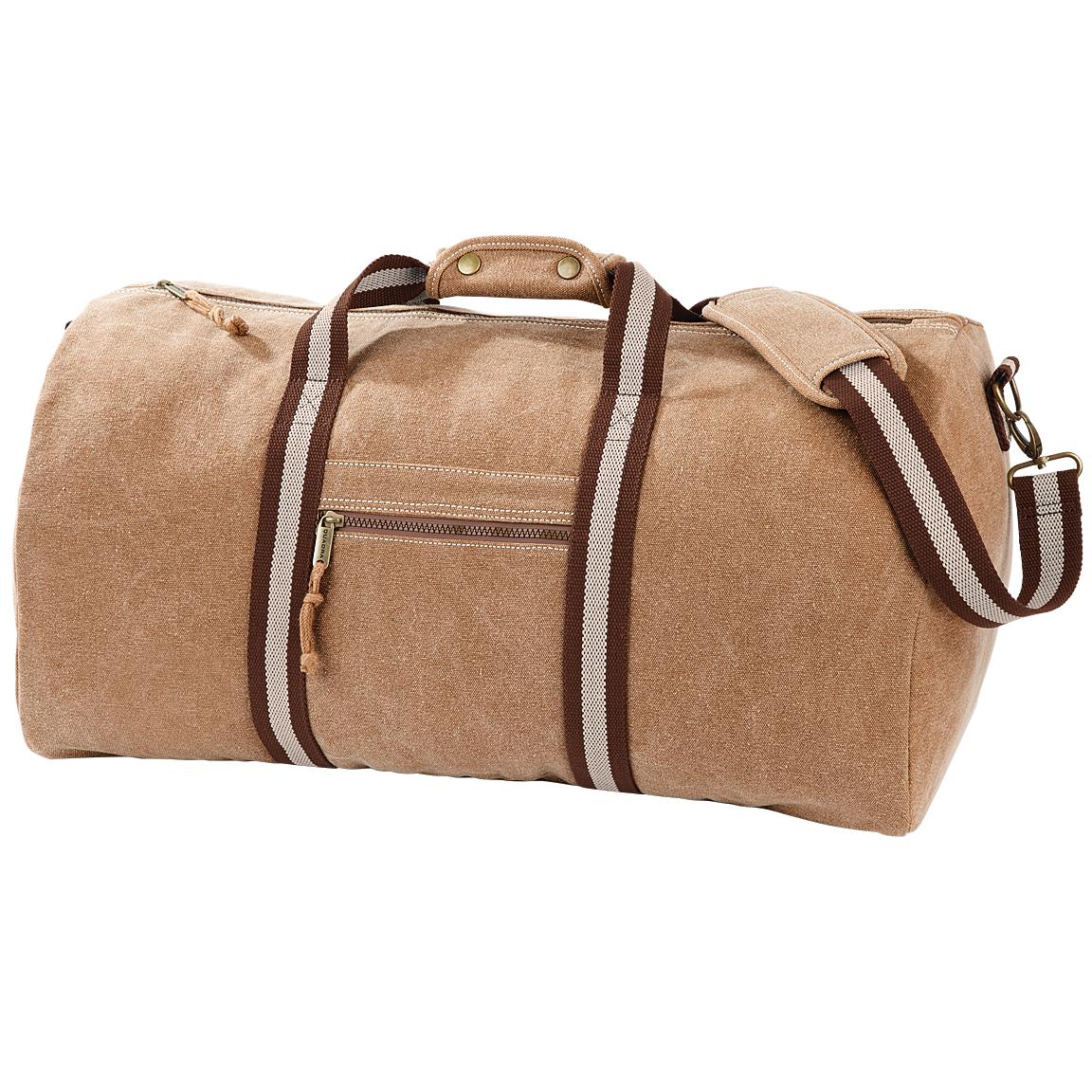Quadra Vintage Canvas Holdall Duffle Bag - 45 Litres (One Size) (Sahara)