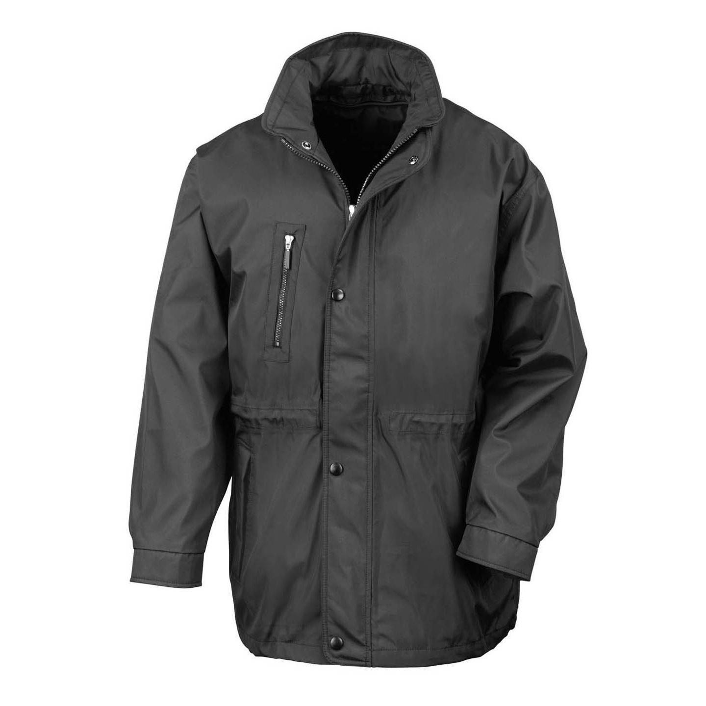 Result Mens Premium City Executive Breathable Winter Coat (2XL) (Black)