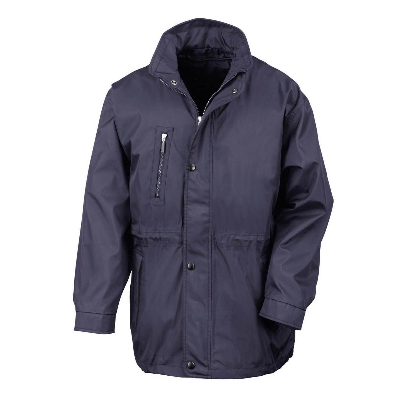 Result Mens Premium City Executive Breathable Winter Coat (XL) (Navy Blue)