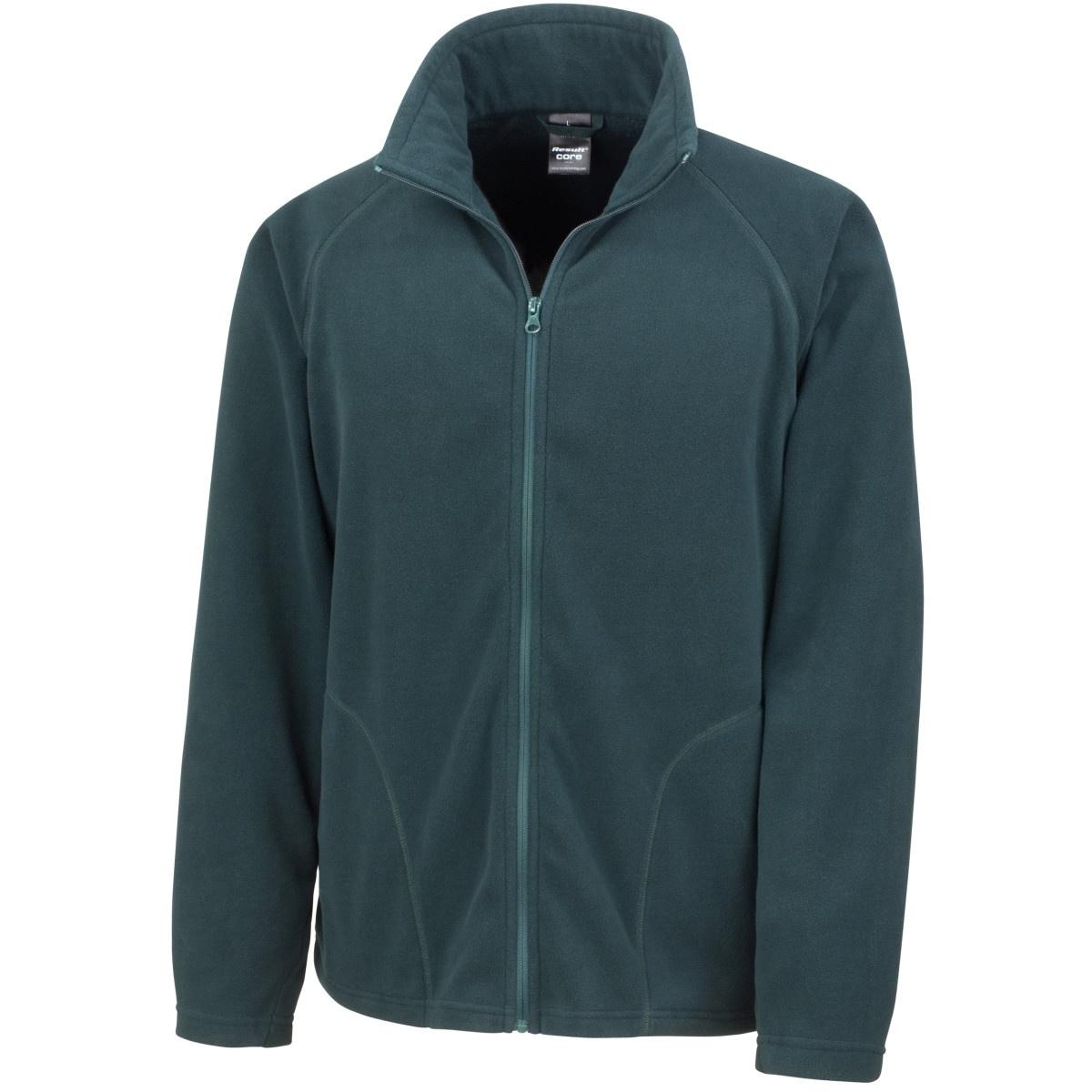 Result Core Mens Micron Anti Pill Fleece Jacket (3XL) (Forest Green)