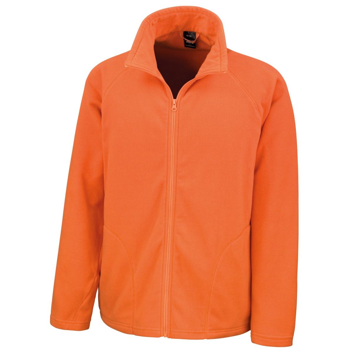 Result Core Mens Micron Anti Pill Fleece Jacket (XL) (Orange)