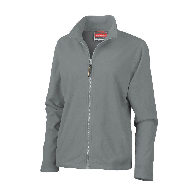 Result Ladies/Womens La Femme® High Grade Microfleece Jacket (490 GSM) (L) (Dove Grey)