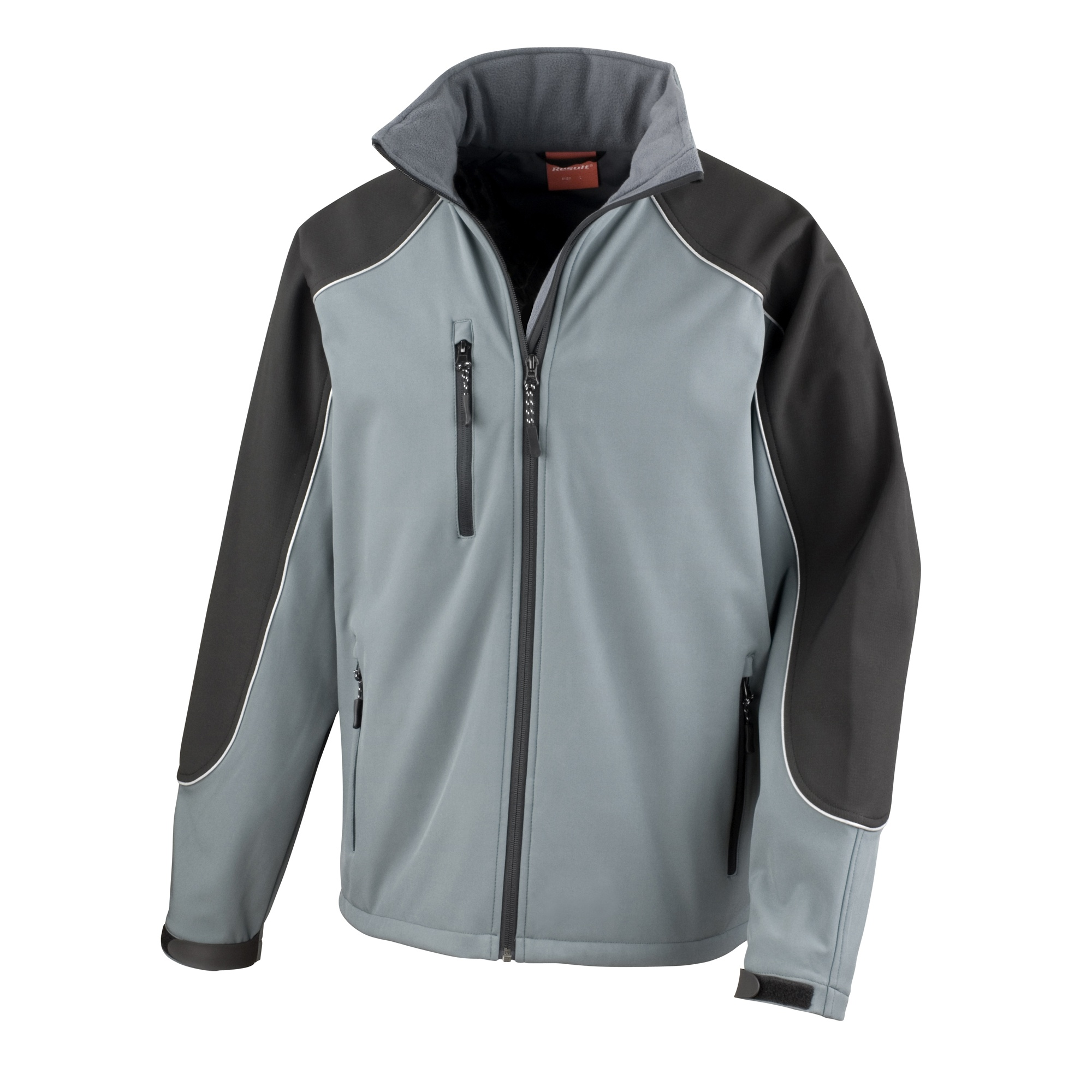Result Mens Ice Fell Hooded Softshell Breathable Waterproof Jacket (345 GSM) (L) (Grey/Black)