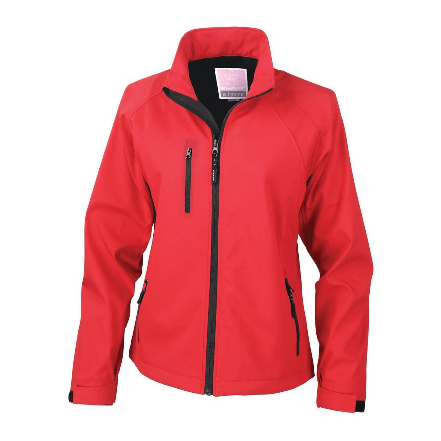 Result Ladies/Womens La Femme® 2 Layer Base Softshell Breathable Wind Resistant Jacket (XL) (Red)