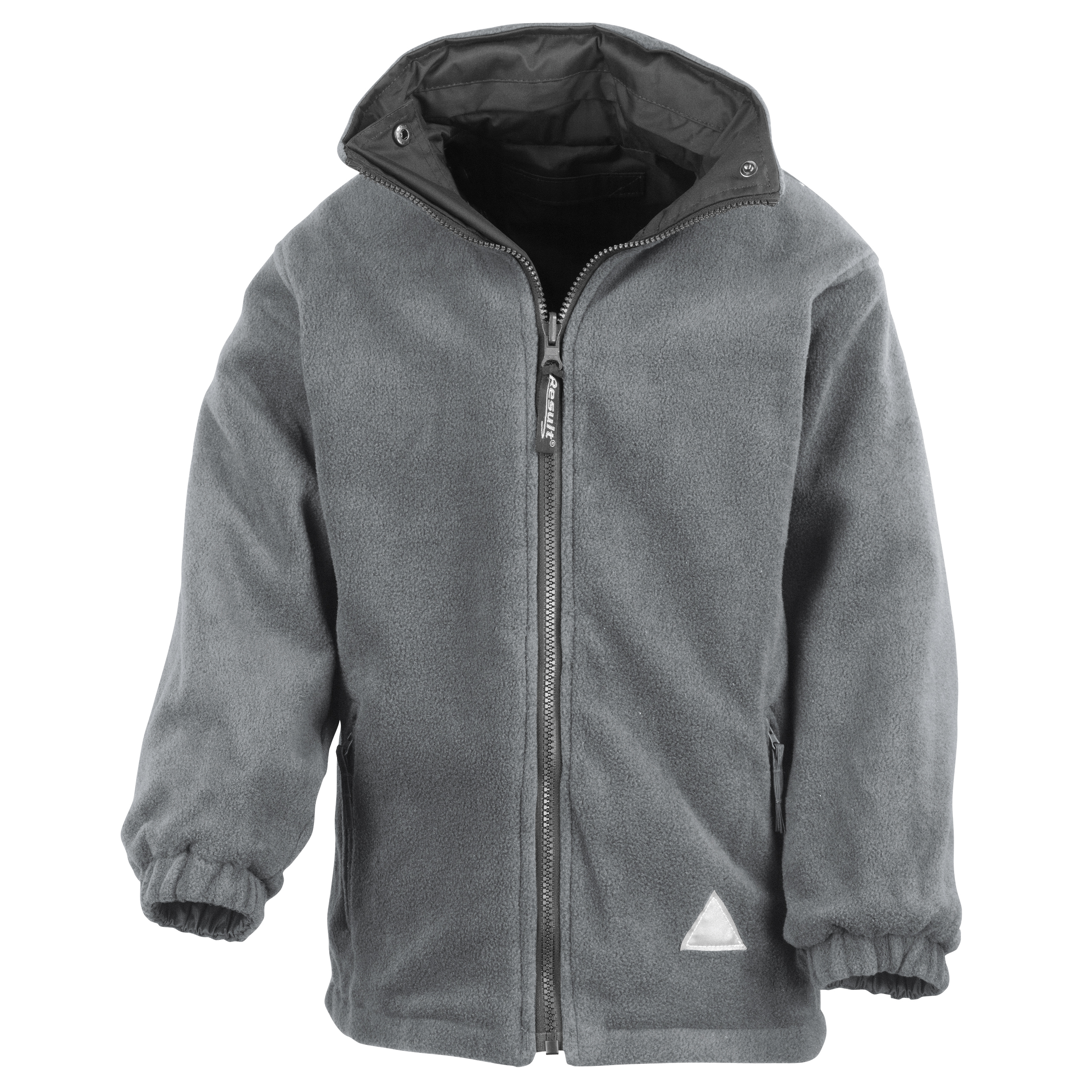 Result Childrens/Kids Reversible Storm Stuff Anti Pilling Fleece Waterproof Jacket (3/4) (Black/Grey)