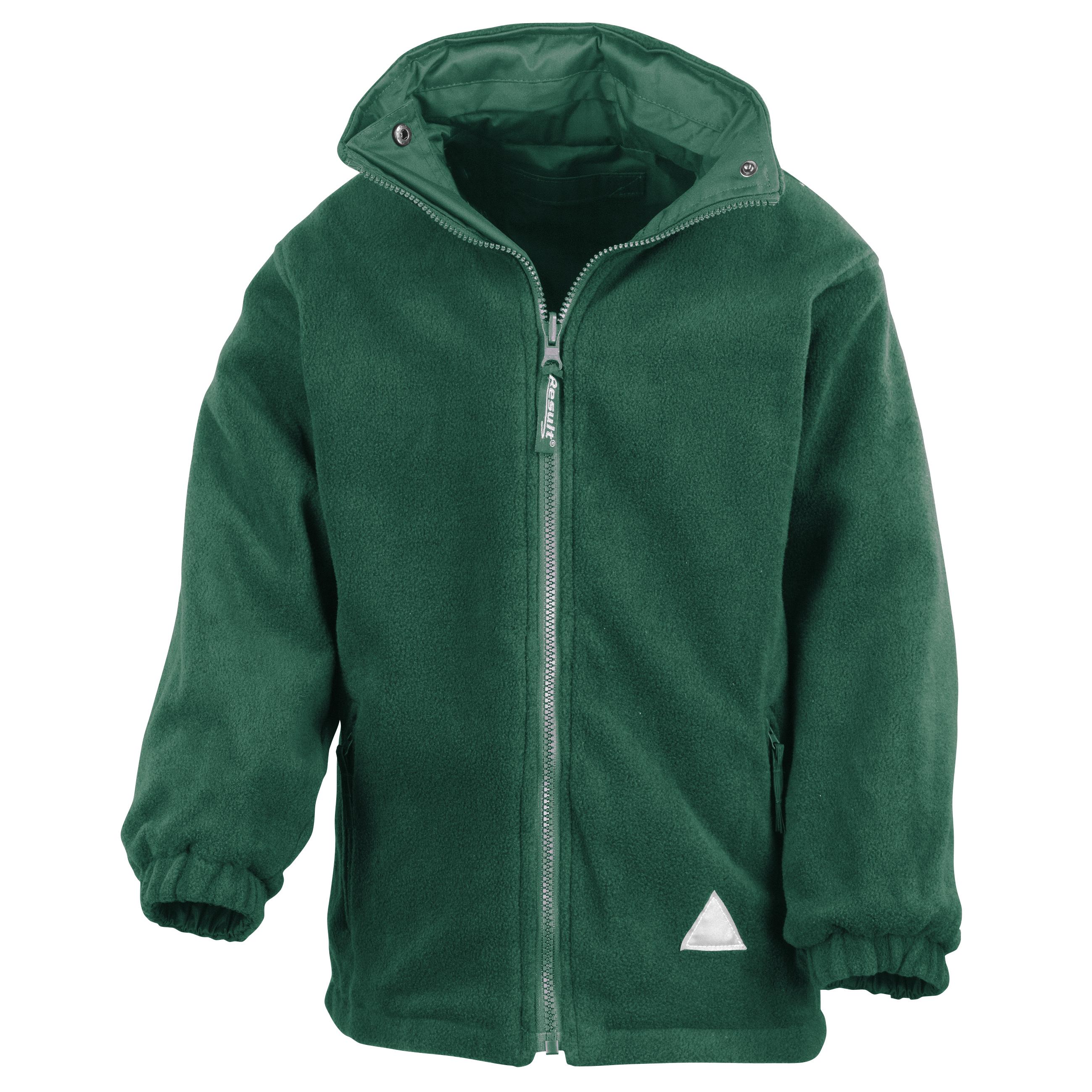 Result Childrens/Kids Reversible Storm Stuff Anti Pilling Fleece Waterproof Jacket (13/14) (Bottle Green/Bottle Green)