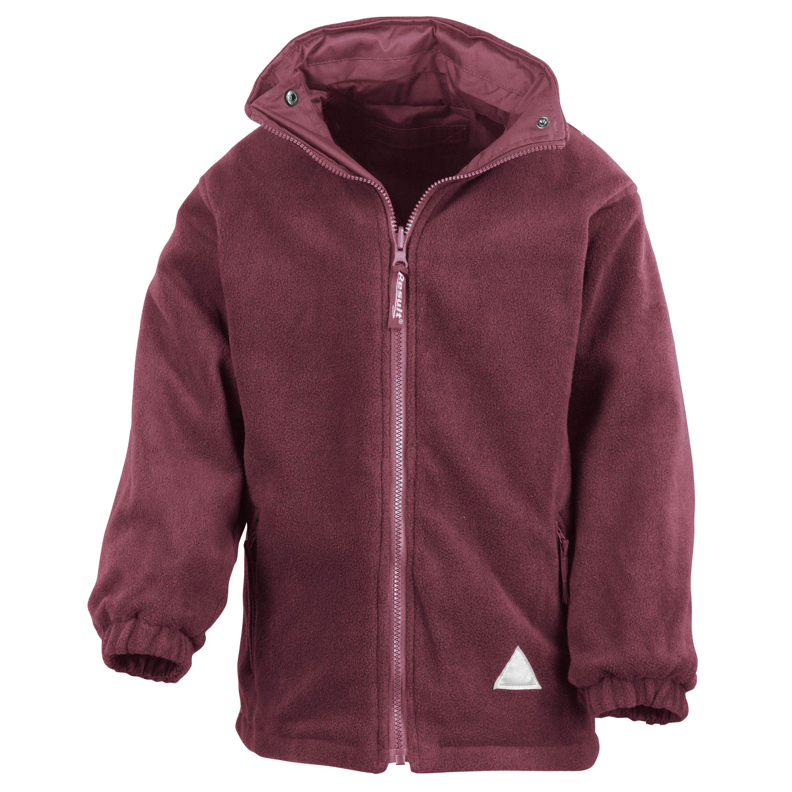 Result Childrens/Kids Reversible Storm Stuff Anti Pilling Fleece Waterproof Jacket (7/8) (Burgundy/Burgundy)