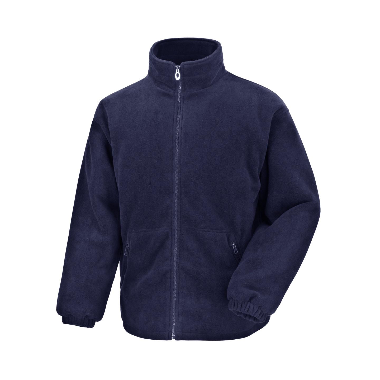Result Core Mens Polartherm Fleece Jacket (4XL) (Navy Blue)