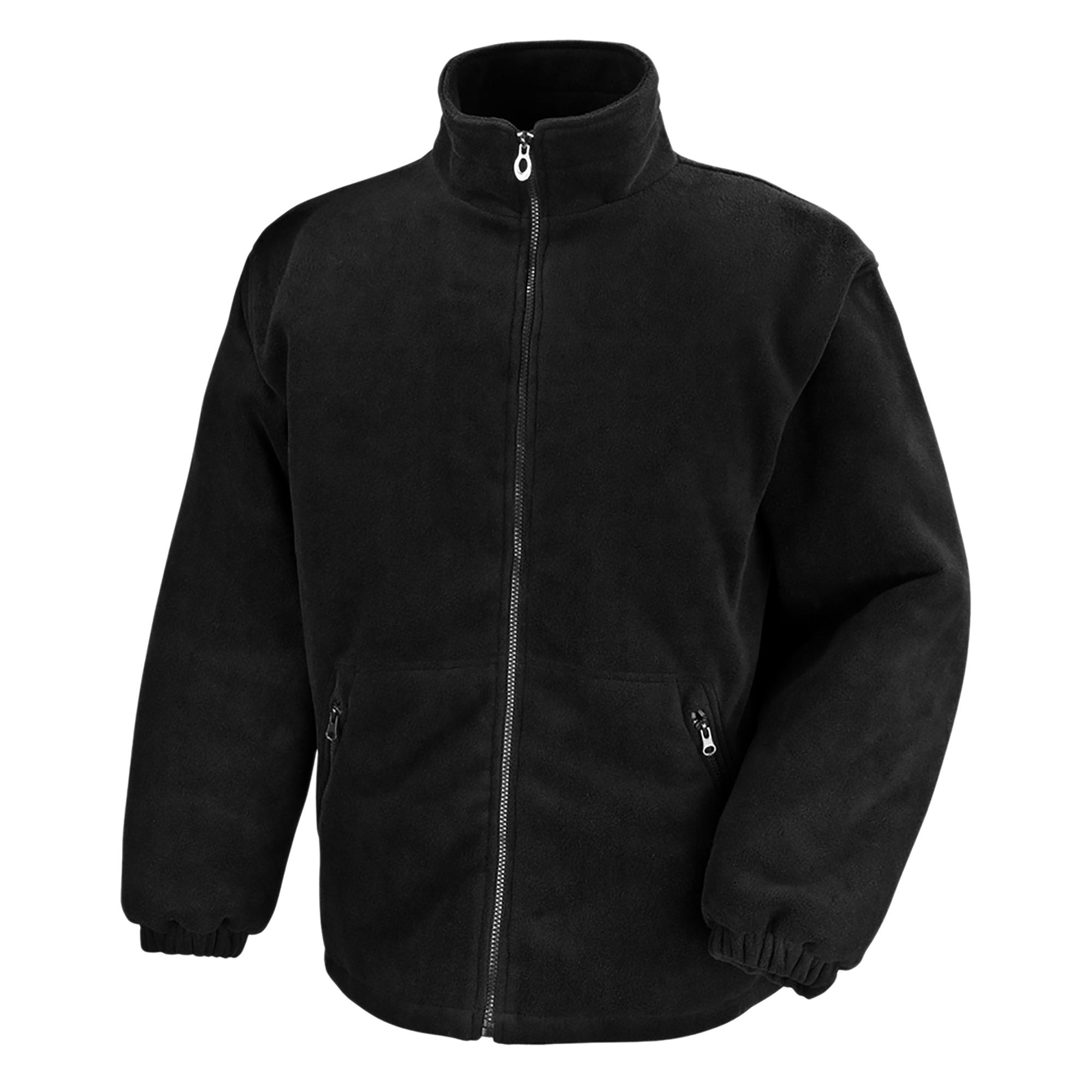 Result Core Mens Polartherm Fleece Jacket (XL) (Black)