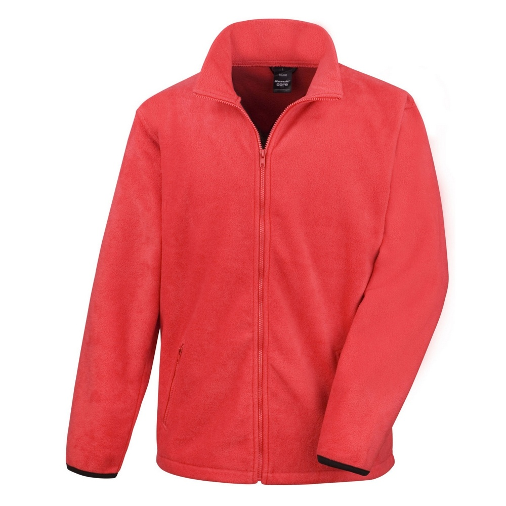Result Mens Core Fashion Fit Outdoor Fleece Jacket (2XL) (Flame Red)