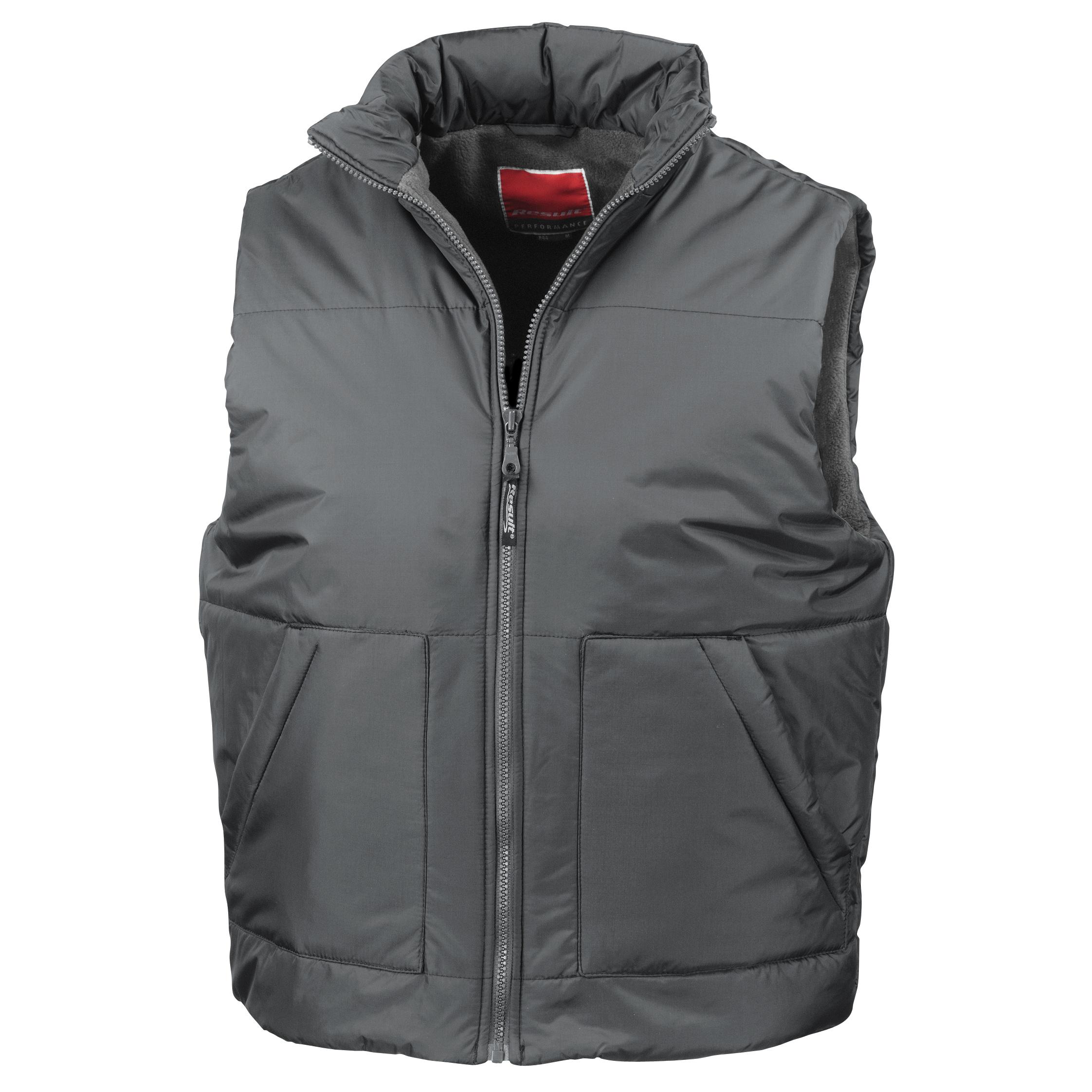 Result Fleece Lined Bodywarmer Water Repellent Windproof Jacket (L) (Dark Grey)