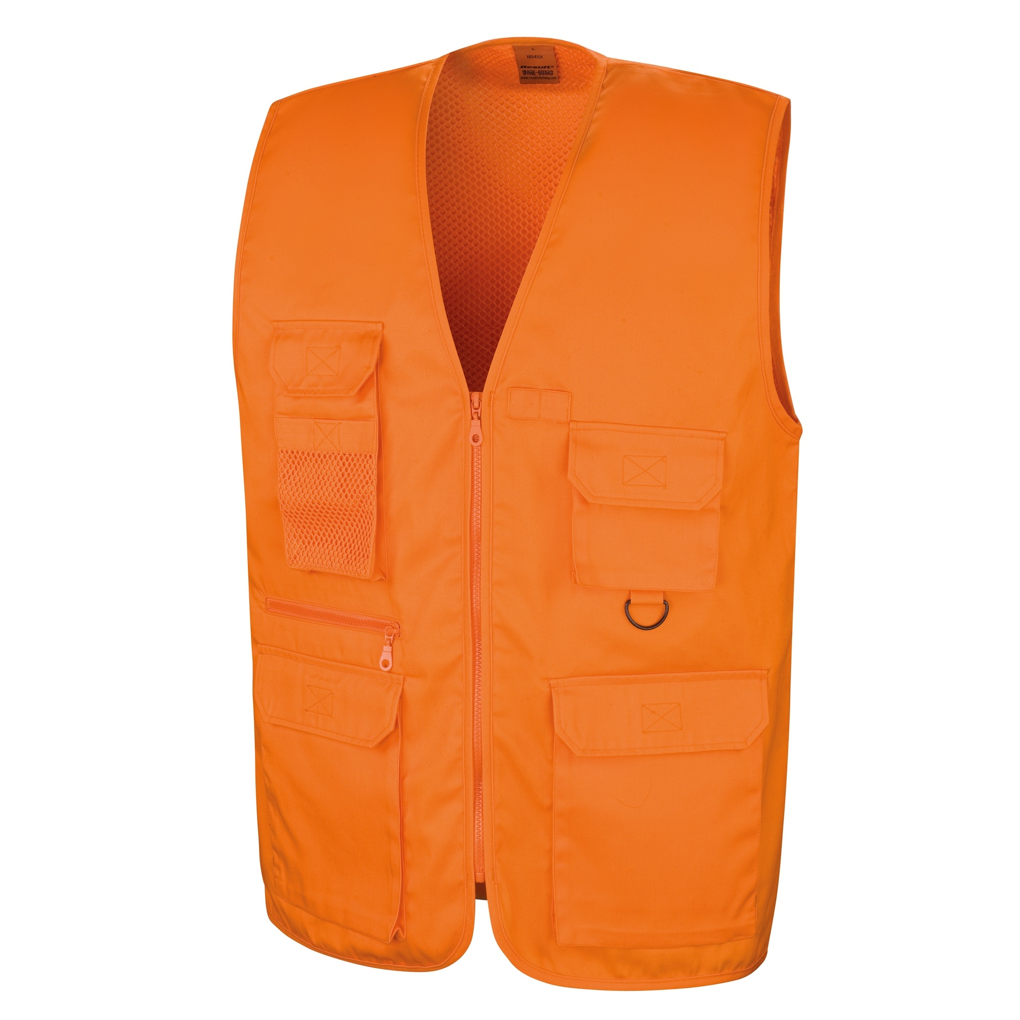 Result Mens Safari Waistcoat Jacket (XL) (Black)