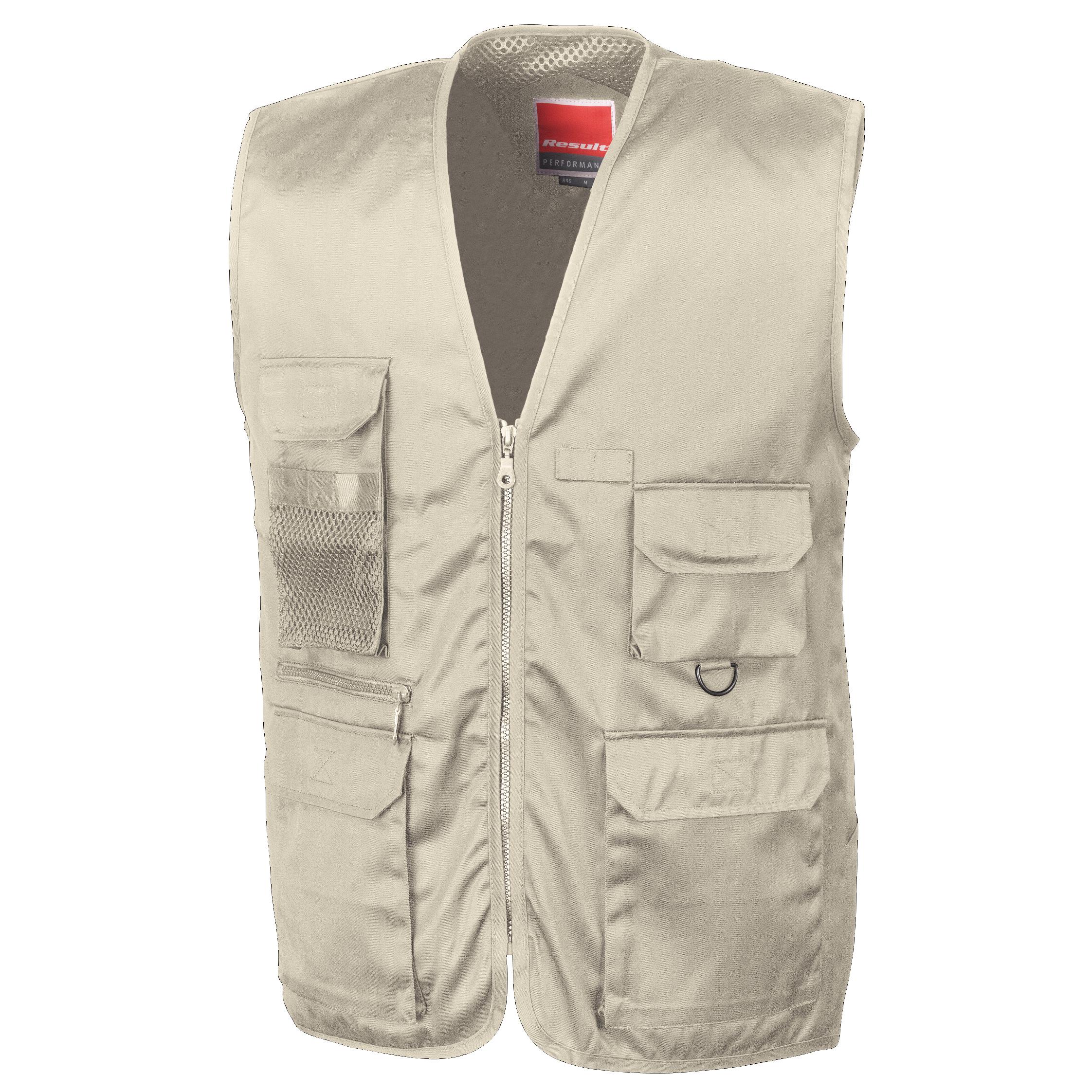 Result Mens Safari Waistcoat Jacket (XL) (Camel)