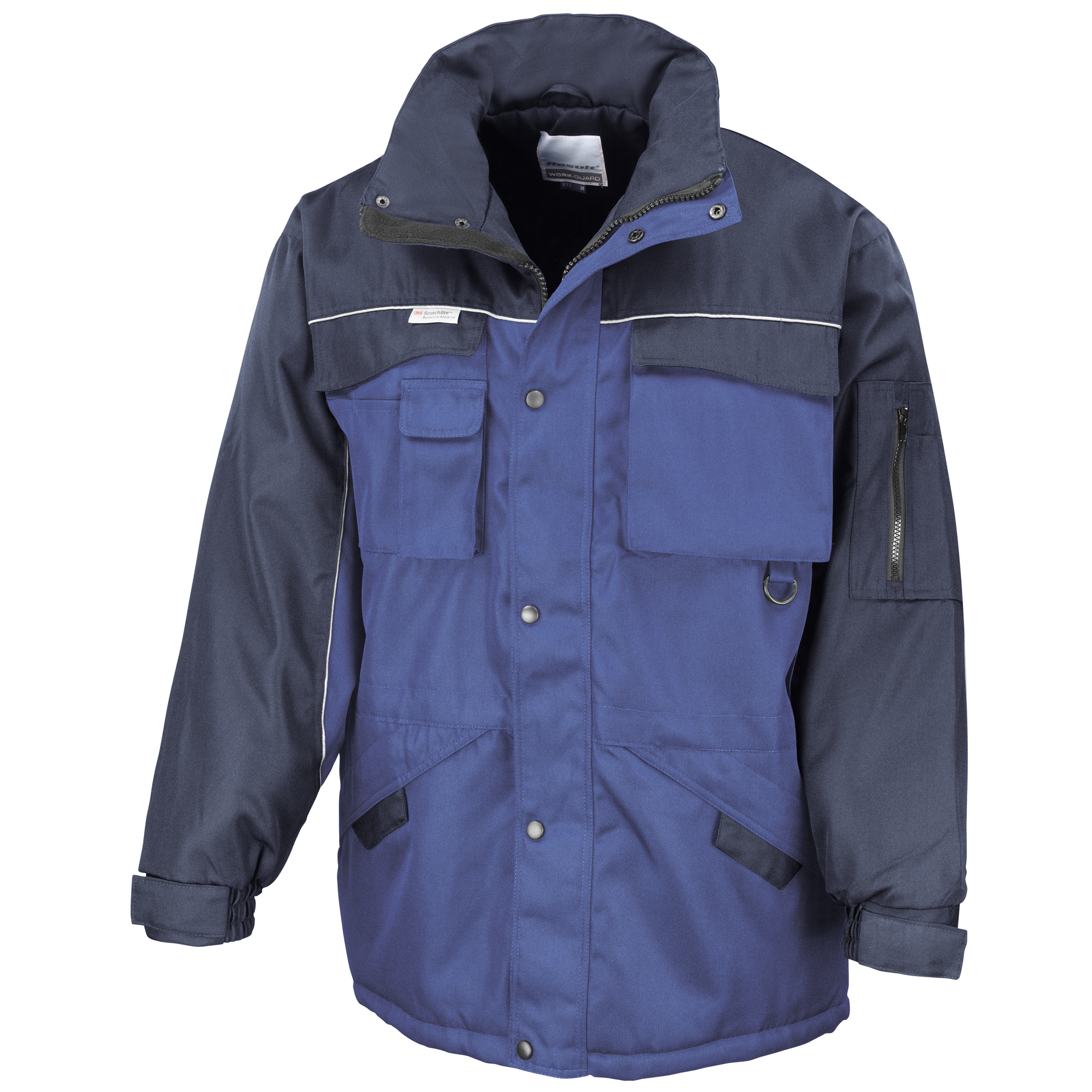 Result Mens Workwear Heavy Duty Water Repellent Windproof Combo Coat (2XL) (Royal/Navy)
