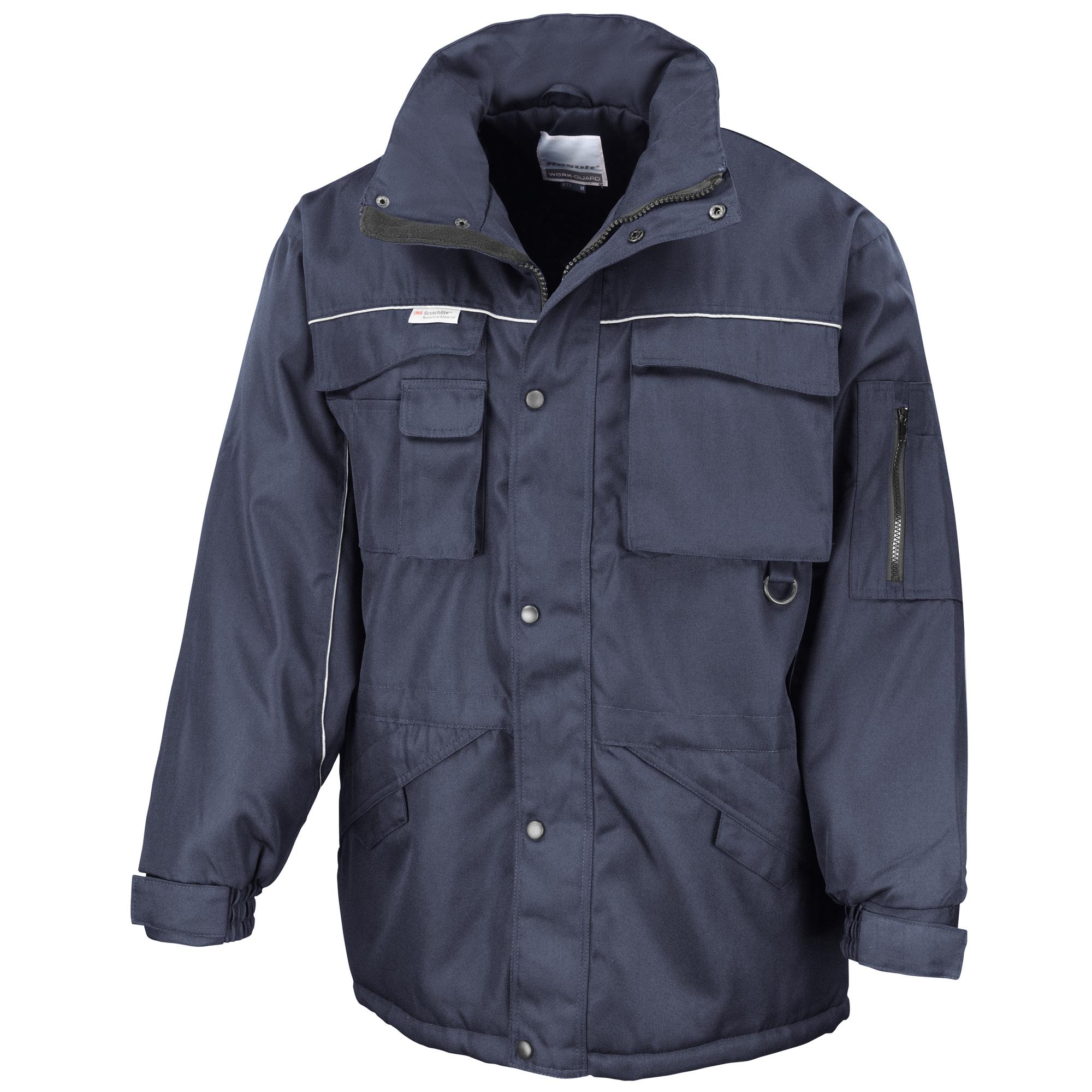 Result Mens Workwear Heavy Duty Water Repellent Windproof Combo Coat (3XL) (Navy/Navy)