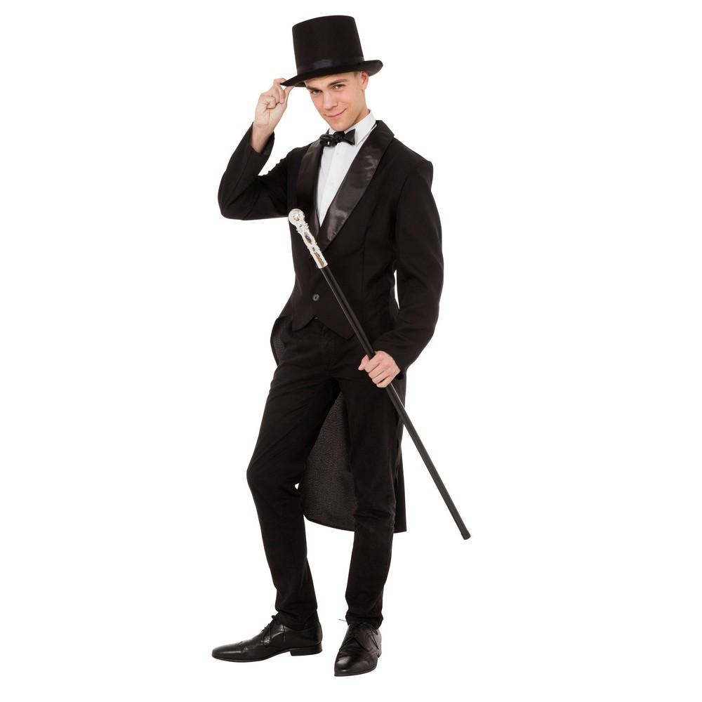 Bristol Novelty Mens Fancy Dress Tailcoat (One Size) (Black)