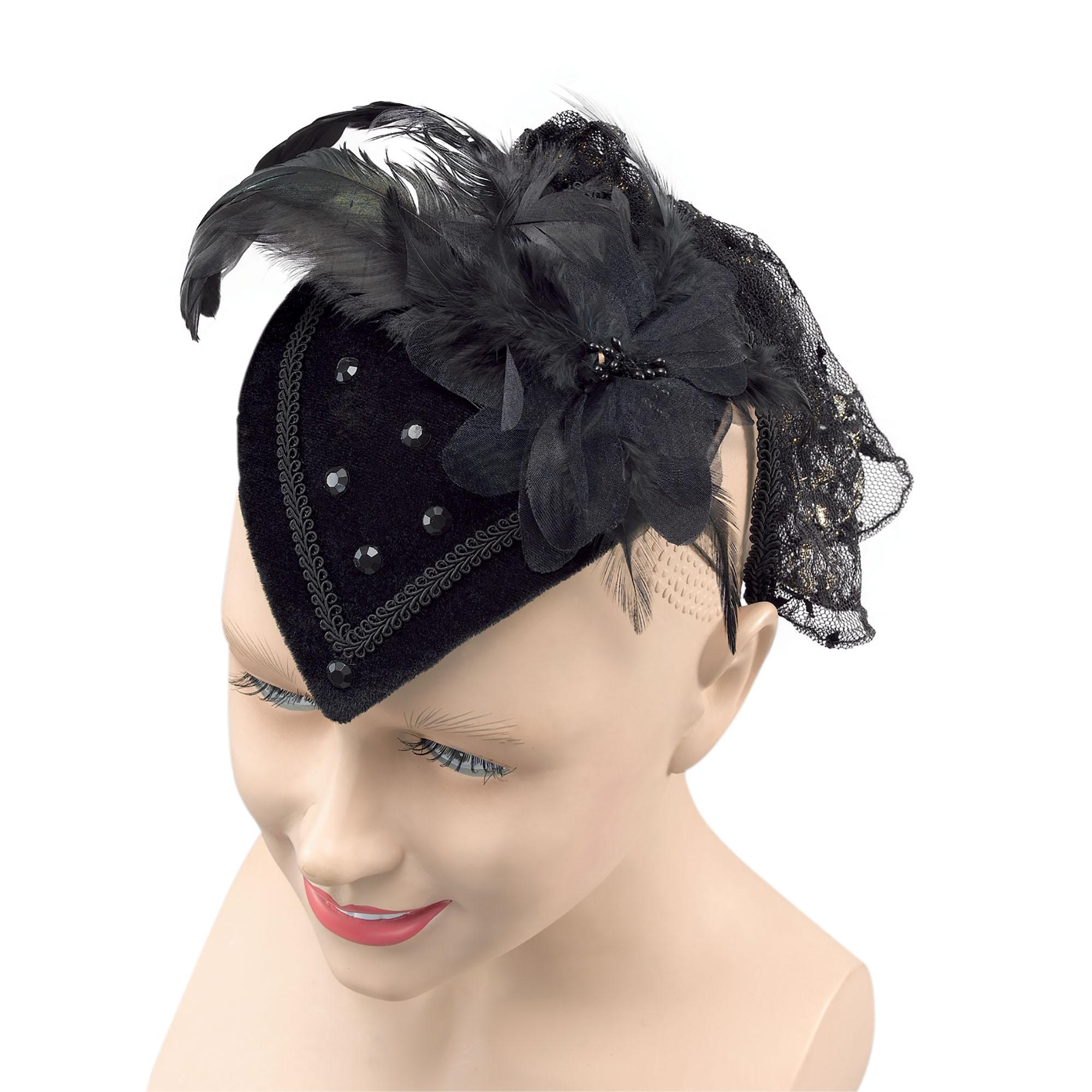 Bristol Novelty Womens/Ladies Teardrop Hat (One Size) (Black)