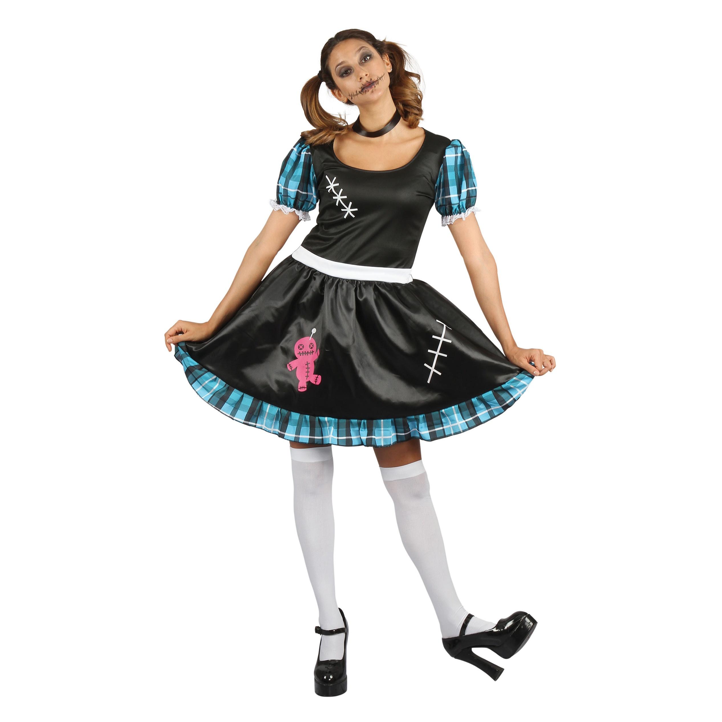 Bristol Novelty Womens/Ladies Voodoo Costume (One Size) (Blue/Black/White)