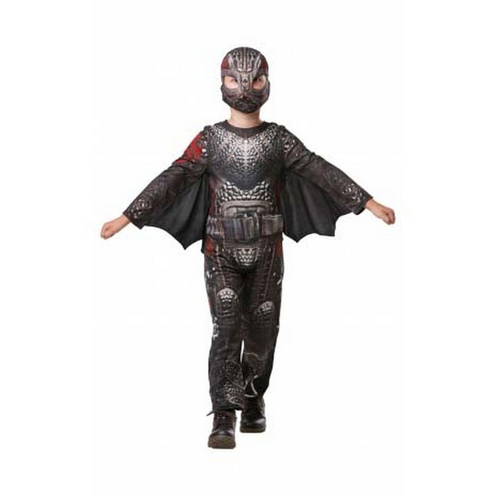 How To Train Your Dragon Boys Hiccup Deluxe Battle Suit (M) (Grey)