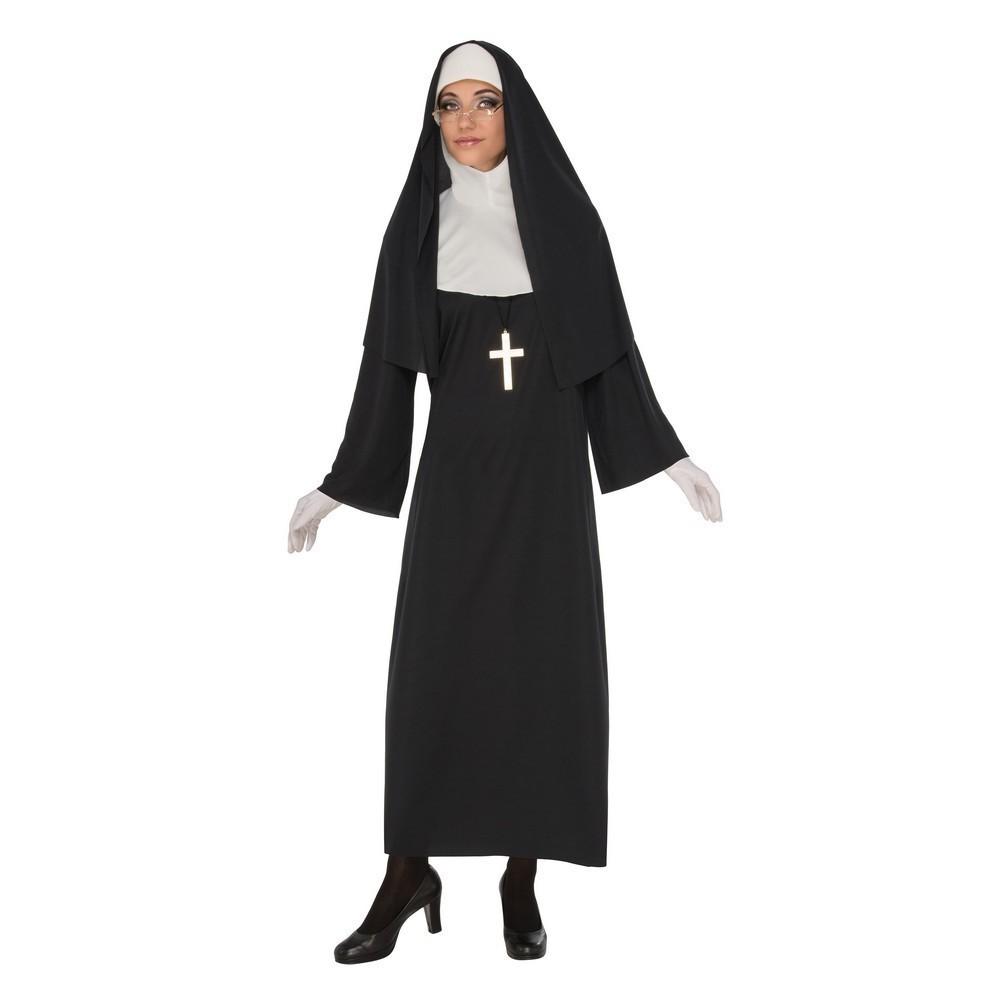 Bristol Novelty Womens/Ladies Nun Costume (L) (Black/White)