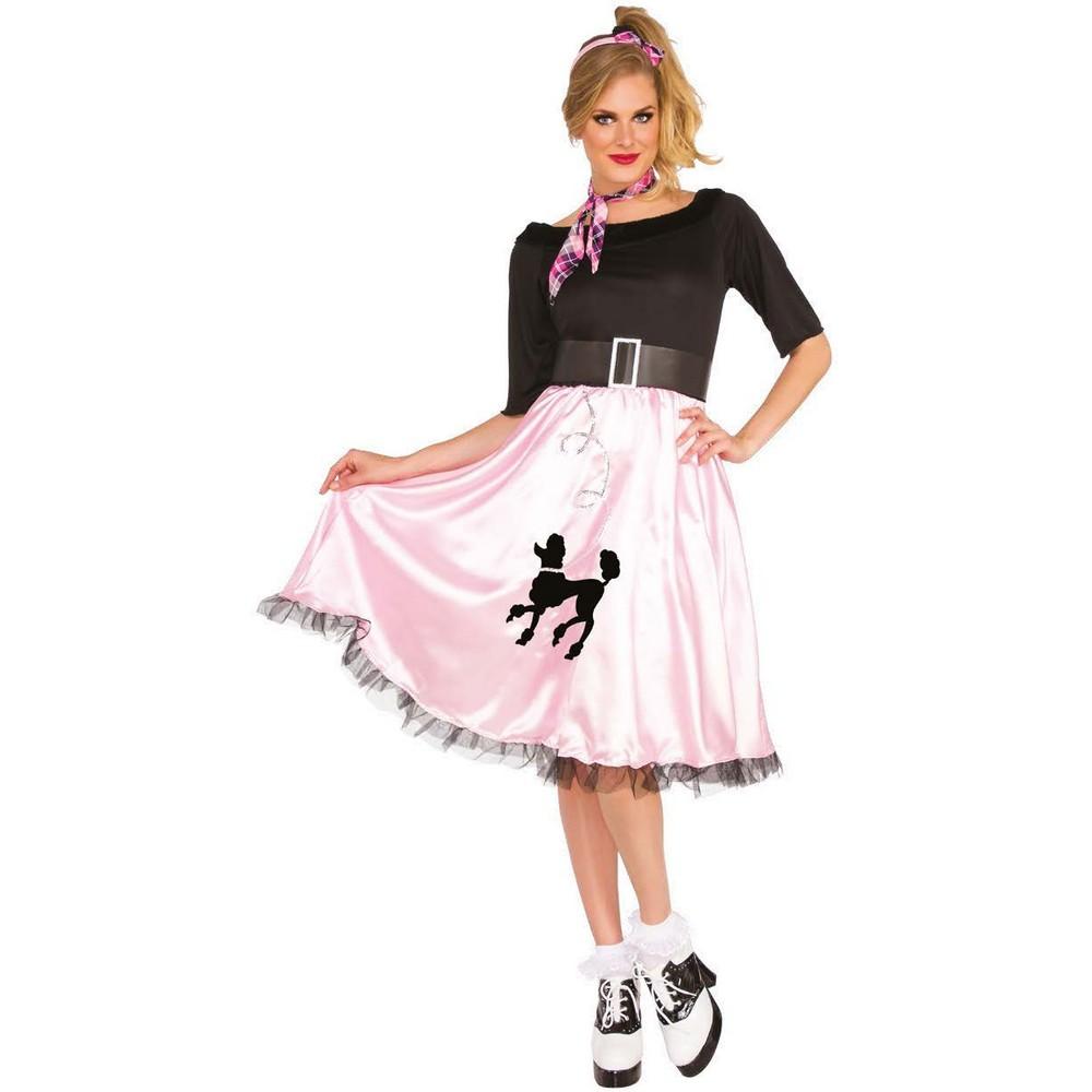 Bristol Novelty Womens/Ladies Sock Hop Sally Costume (M) (Pink)