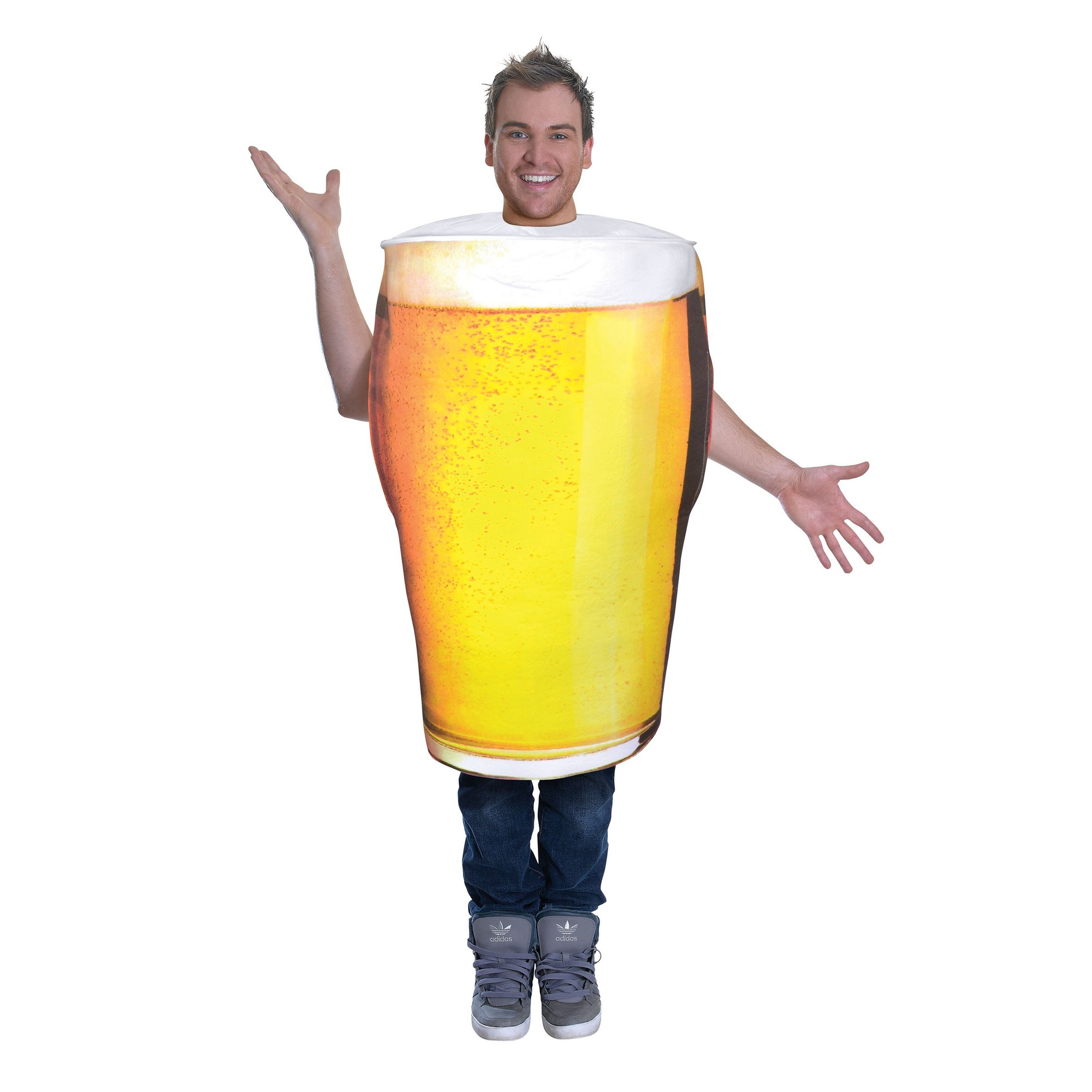 Bristol Novelty Unisex Adults Pint of Beer Costume (One Size) (Yellow)