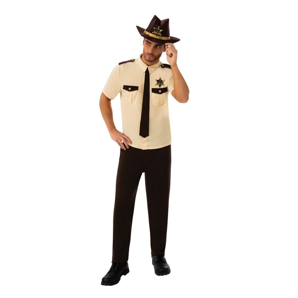 Bristol Novelty Mens US Sheriff Costume (XL) (White/Black/Gold)