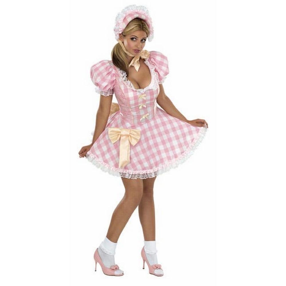 Bristol Novelty Womens/Ladies Secret Wishes Sexy Bo Peep Costume (S) (Pink/White)