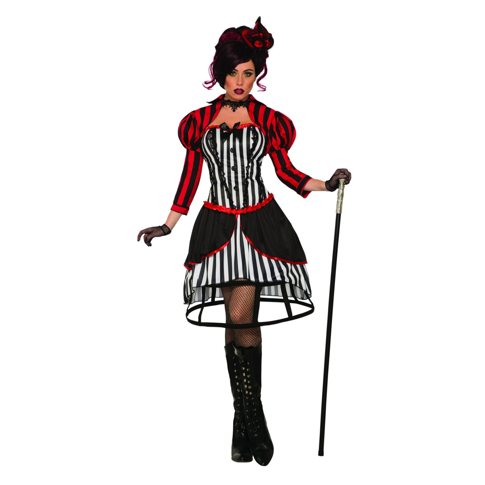 Bristol Novelty Womens/Ladies Mystery Circus Madame Costume (10-14 UK) (Black/Red/White)