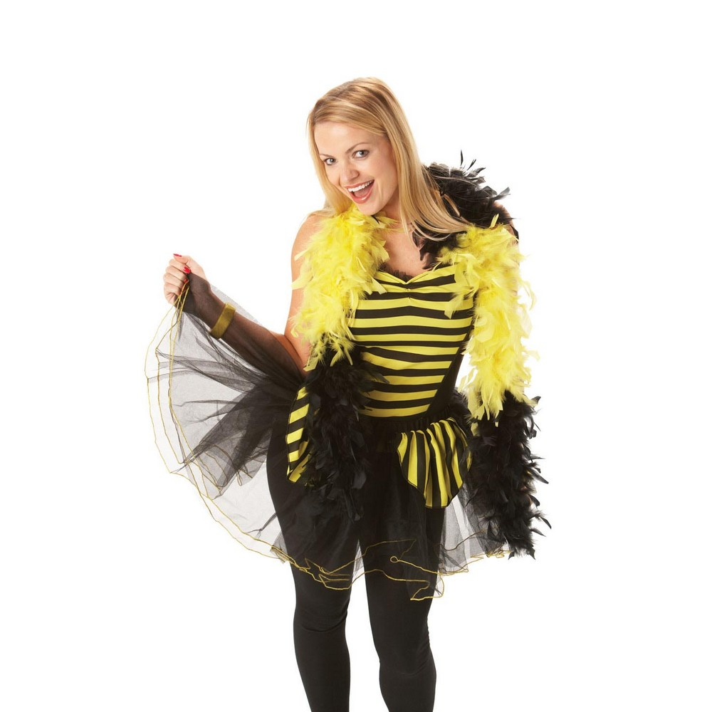 Bristol Novelty Womens/Ladies Bee Costume Basque-Style Top (S) (Black/Yellow)