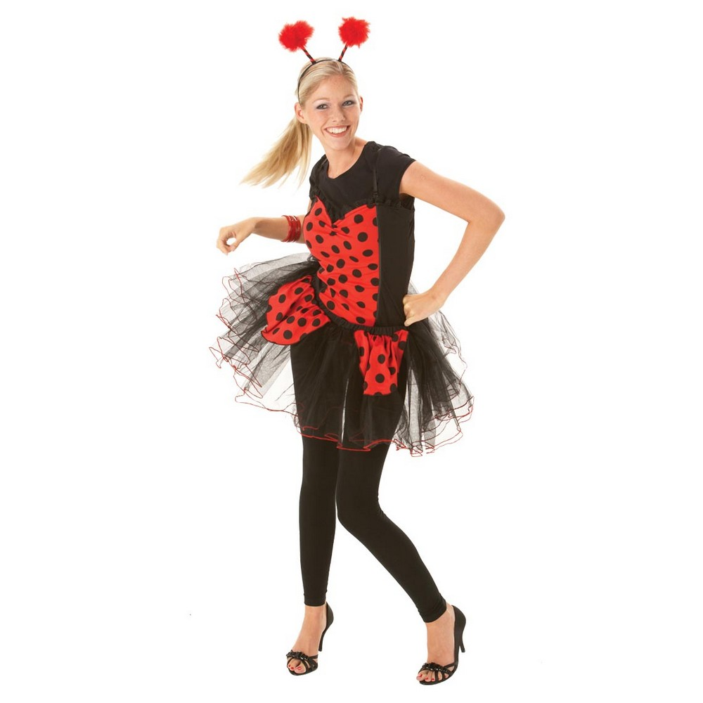 Bristol Novelty Womens/Ladies Ladybird Costume Basque-Style Top (M) (Red/Black)