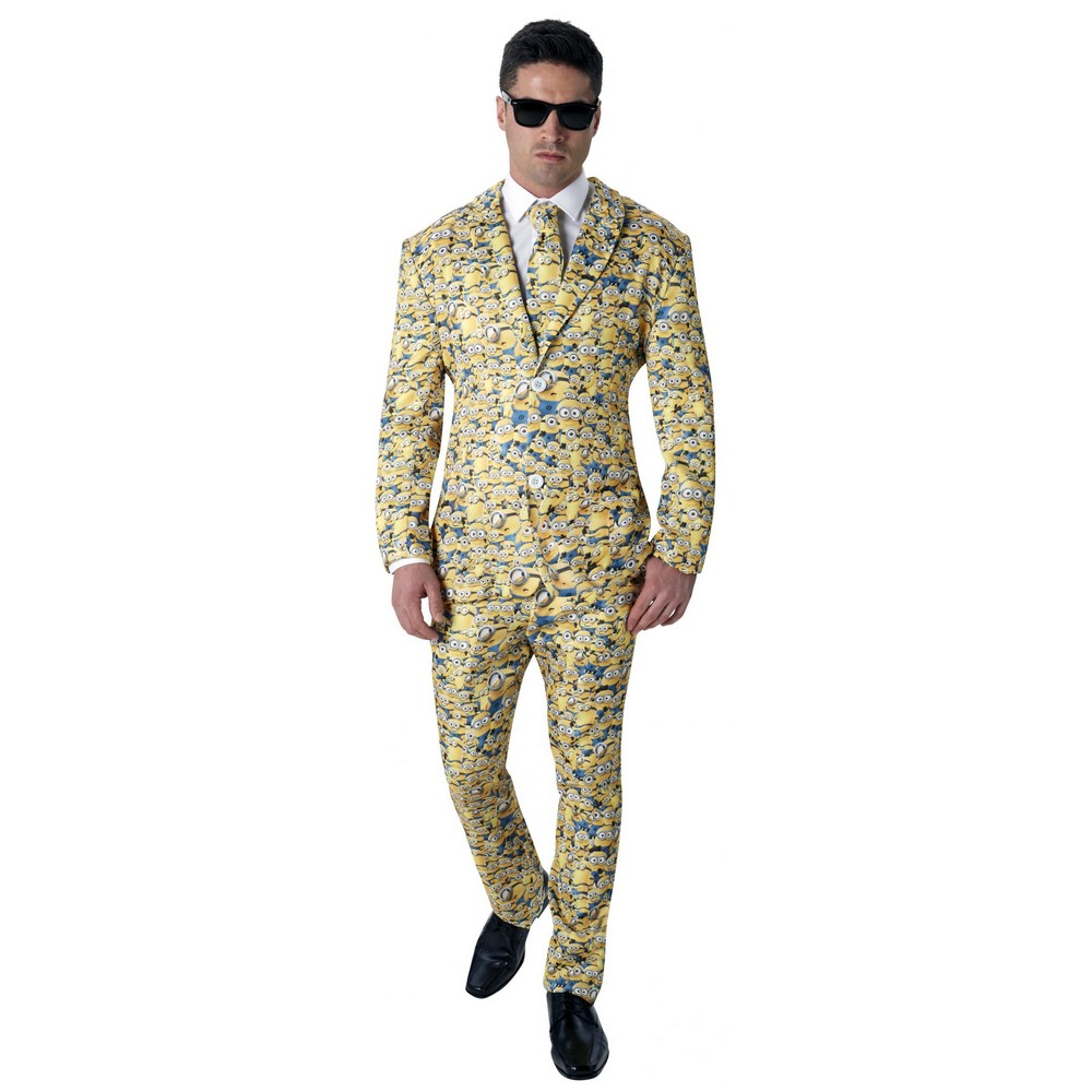 Minions Mens Icon Patterned Suit (STD) (Yellow)